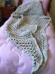 Large crocheted afghan