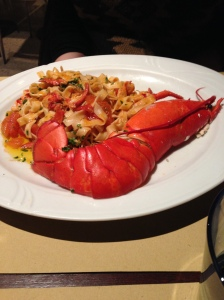 FABULOUS lobster dinner in Venice. My daughter had the lobster and pasta dish. Mine? No picture. Must have been boring...